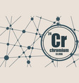 chromium chemical element vector image vector image