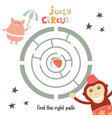 circus labyrinth vector image