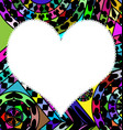 colored abstract and white heart vector image