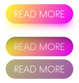 colorful read more web buttons isolated on white vector image