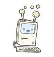 comic cartoon old computer vector image vector image