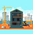 construction and building vector image vector image