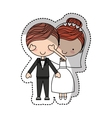 Couple of newlyweds character vector image vector image