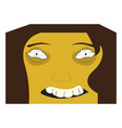 cute halloween cartoon maniac avatar vector image vector image