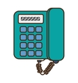digital telephone isolated icon vector image