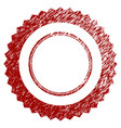 distressed textured rosette seal frame vector image