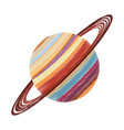 Drawing saturn planet astronomy image vector image