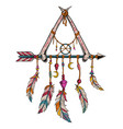 dream catcher peace and love vector image
