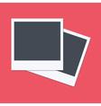 Empty polaroid frames flat design vector image vector image