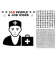 first-aid doctor icon with bonus vector image vector image