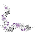 Flowers purple vector image vector image