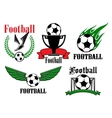 Football or soccer icons and symbols vector image