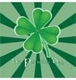 Four leaf clover for St Patricks day vector image vector image