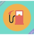 Gas station fuel pump vector image
