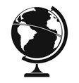 geographic planet icon simple style vector image vector image