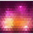 Geometric colorful triangle background vector image vector image