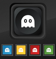 Ghost icon symbol Set of five colorful stylish vector image vector image