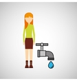 girl concept ecological drop water vector image