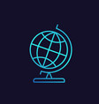 globe icon in linear style with gradient vector image