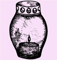 grave candle vector image