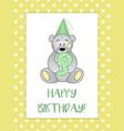 greeting card for birthday child teddy bear