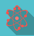icon structure of the nucleus of the atom around vector image vector image