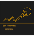Idea make to success Concept of idea vector image vector image