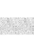 man and woman hand drawn clothes seamless border vector image vector image