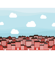 Many storeyed city vector image vector image
