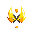 mask of hero or villain face vector image vector image