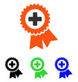 medical quality seal flat icon vector image