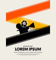 movie and film festival poster template design vector image vector image