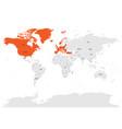 north atlantic treaty organization nato member vector image