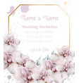 orchid flowers wedding card watercolor vector image vector image