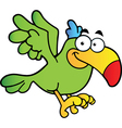 Parrot Cartoon Character Flying vector image vector image