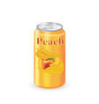 peach juice can vector image vector image