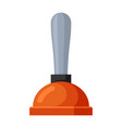 plunger icon device for tube plunging vector image