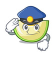 police slice of melon isolated on cartoon vector image vector image