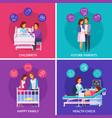 pregnancy newborn cartoon design concept vector image vector image