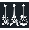 pub with rock music vector image vector image