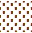 purse man pattern seamless vector image vector image