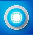 quality emblem icon isolated on blue background vector image vector image