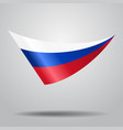 russian flag background vector image vector image