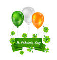 saint patricks day greeting card vector image vector image