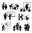 school education social problem student teacher vector image vector image