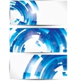 Set of abstract colorful web headers and cards vector image