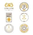 Set of logo sticker emblem print label or vector image vector image