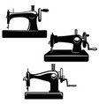 set sewing machine design element for poster vector image vector image