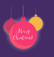 shiny red and yellow christmas balls background vector image