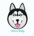 Siberian husky icon flat vector image vector image